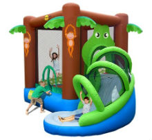 BC023 Crocodile Jumping Castle with Slide